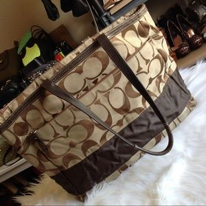 Large Coach diaper bag tote with tons of storage